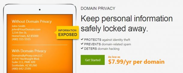 godaddy domain privacy protection review