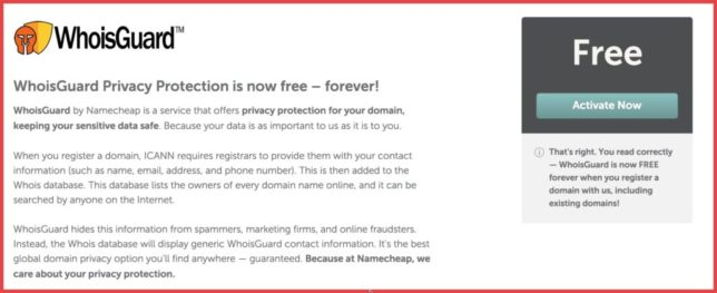 namecheap free whoisguard