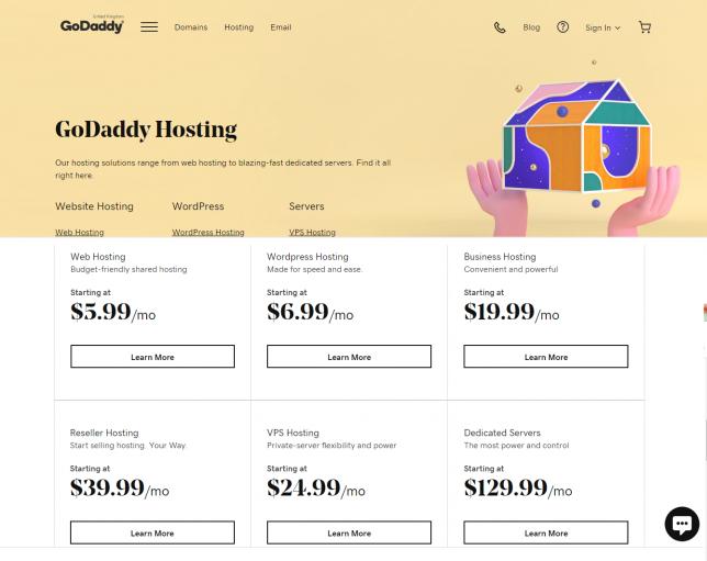 best godaddy alternatives for web hosting